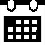 Kalender Icon weiss