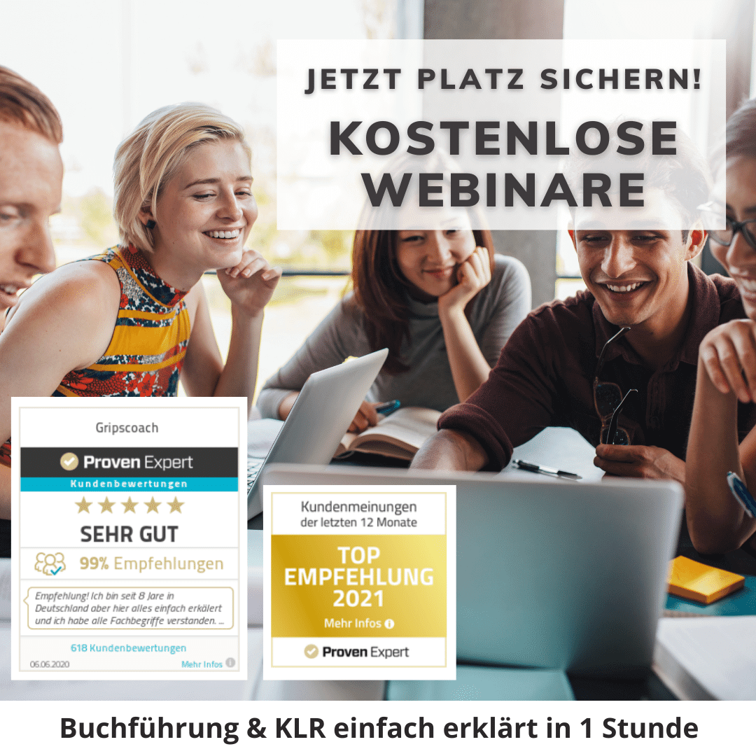 Webinar Buchführung und KLR - GripsCoachTV